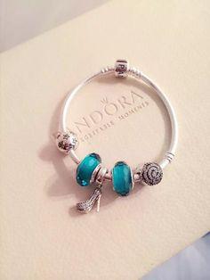 50% OFF!!! $159 Pandora Charm Bracelet Blue. Hot Sale!!! SKU: CB02033 - PANDORA Bracelet Ideas