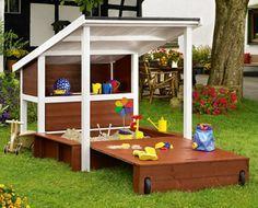 diy sandkasten als gartengestaltung und kinderspielplatz. Black Bedroom Furniture Sets. Home Design Ideas