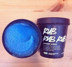 I love Lush's RUB RUB RUB shower scrub! It leaves your skin feeling so soft.