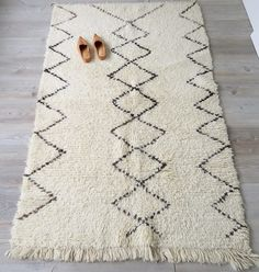 GERESERVEERDE tot 5 AUG Vintage Marokkaanse wol Beni Ourain