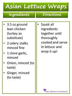 Asian Lettuce Wraps Recipe ♥ 17 Day Diet