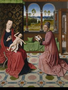 Workshop of Dieric Bouts the Elder (Early Netherlandish, ca.1415–1475), St Luke drawing the Virgin and Child The depiction of St Luke drawing the Virgin and child from the collection at Penrhyn Castle is a very important work by Dieric Bouts. This superb devotional work by Bouts was sold following an export stop to the Art Fund for display at the Bowes Museum, County Durham. http://thebowesmuseum.org.uk/Exhibitions/2016/Image-and-Substance-St-Luke-Drawing-the-Virgin-and-Child