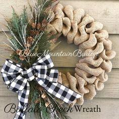 Double Door Wreaths, Christmas Wreaths For Front Door, Deco Mesh Wreaths, Holiday Wreaths, Burlap Wreaths For Front Door, Winter Wreaths, Burlap Christmas Decorations, Ribbon Wreaths, Yarn Wreaths