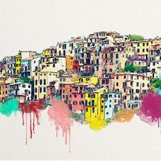 """""""Cinque Terre"""" by #fineartamerica artist Safran Fine Art. 🎨"""