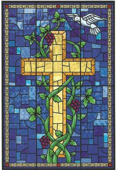 Rustica House Hand made stained glass with cross motive looks good in windows and doors. Its Mexican character is reflected in yellow green pattern over blue color. Stained Glass Church, Stained Glass Quilt, Making Stained Glass, Stained Glass Designs, Stained Glass Patterns, Stained Glass Windows, Mosaic Art, Mosaic Glass, Stained Glass Cookies