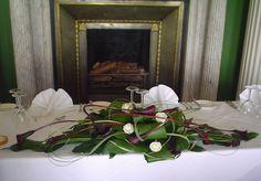 calla lily top table arrangement