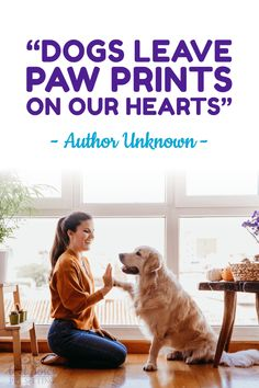 """Click for more dog quotes! """"Dogs leave paw prints on our hearts"""" - Author Unknown  #quote #dog #cat Wet Noses Pet Sitting Fort Collins, Loveland, Greeley, Windsor Pet Sitter, Dog Walker, Cat Sitter A Girl And Her Dog Quotes, Dog Quotes Love, Dog Quotes Funny, Cat Quotes, Be Inspired Quotes, Cat Sitter, Cute Funny Dogs, Dog Facts, Pet Sitting"""