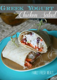 Greek Yogurt Chicken Salad - FamilyFreshMeals.com