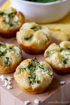 Spinach Cheese Puffs