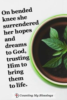 Sometimes hopes and dreams need goal-setting and a to-do list that will inch us closer to our hoped for outcome. But sometimes they're beyond us and we need to trust God.