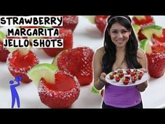 How to make Strawberry Margarita Jello Shots - Tipsy Bartender - YouTube