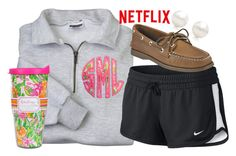 """{netflix and hot chocolate}"" by preppy-southern-girl-1-2-3 ❤ liked on Polyvore featuring NIKE, Sperry Top-Sider, Lilly Pulitzer, Tiffany & Co., women's clothing, women, female, woman, misses and juniors"