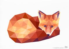 Fox 3, Geometric print, Original illustration, Animal print, Minimal art, Nursery wall art on Etsy, $8.82 AUD