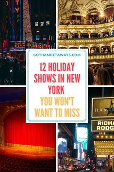 Are you in New York City for the holidays? Then you have to see some of  the best holiday shows in the world. There's the Rockettes at Radio City  Music Hall, The Nutcracker, A Christmas Carol on Broadway, Frozen on Broadway and more.  #nycatchristmas #holidaysinnyc #newyorkcity #nyctips #nyctravel  #christmas
