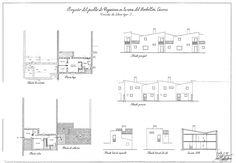 [Fig. 1] Planimetría de  vivienda para colono tipo E de Vegaviana. Fuente: imagen cedida por Rafael Fernández del Amo. Señala encima de la imagen para verla más grande.