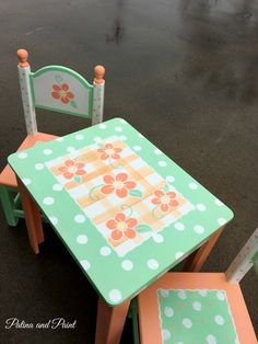Painted Children's Table