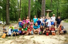 Lindsay Longest '10 with her daycare class at Pocahontas State Park!  viewbook.sms.org