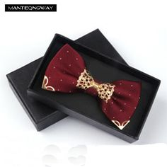Mantieqingway Bow Tie For Men's Suit Groom Wedding Party Polyester Bowknot Cravat Business Bowtie Metal Neck Ties Accessories