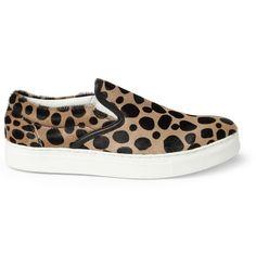 Undercover Leopard-Print Ponyskin Slip-On Sneakers | MR PORTER