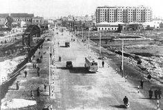 Estado que la construcción del Tapón de Chapina ofrecía a finales del año 1954