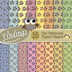 Adorable Owl Paper Sets, Variety of Colors, Instant Download, Owl Patterned Digital Paper ready to Print, Scrapbooking, Crafts and more! by FindingsPhotoDesigns on Etsy #owls #digitalpaper #scrapbooking #crafts #tools #instantdownload #craftsupplies #patternedpaper #printablepaper #animals #decor