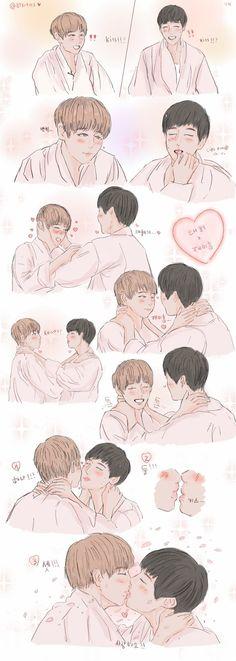 Love for cute baby boy Taetae # Hài Hước # amreading # books # wattpad Bts Kiss, Vhope Fanart, Baby Fan, Dont Hurt Me, Things About Boyfriends, Win My Heart, Wattpad, Army Love, Kpop