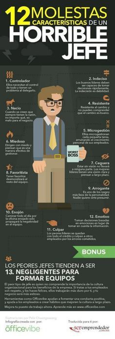 12 molestas características de un horrible jefe.
