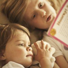 Sisters. Bedtime stories.