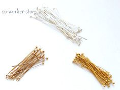 DIY-silver-rose-gold-Plated-copper-round-head-pin-jewelry-supply-USA-BY-EUB