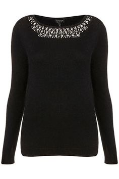 Knitted Crystal Necklace Jumper