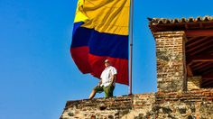 Andrew soaks in the sensational views of Cartagena from the top of Castillo San Felipe de Barajas, a colonial Spanish fortress built in 1536.