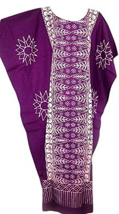 Cool Kaftans New MALAYA Cotton Kaftan Dress Black Purple Red Plus  Purple  XXL Cool Kaftans >>> You can get additional details at the image link.