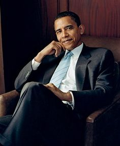Barack Obama looking fly in the January 2009 issue of Vogue magazine. The portrait was photographed by Annie Leibovitz.