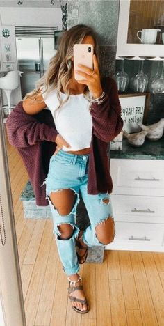 casual outfits for school & casual outfits ; casual outfits for winter ; casual outfits for work ; casual outfits for women ; casual outfits for school ; Casual School Outfits, Cute Comfy Outfits, Teen Fashion Outfits, Cute Summer Outfits, Mode Outfits, Look Fashion, Spring Outfits For School, Cute Outfit Ideas For School, Cute Outfits With Jeans