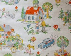 Or is something like this better?Vintage childrens wallpaper - 50 cm.