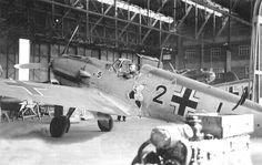 """Messerschmitt Bf-109E-3 """"Black 2"""" 8./ JG 26 Schlageter."""