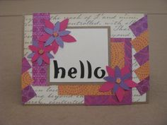 """Last, but not least is the card you also make during the """"Sketched Out 2"""" class at Michaels."""