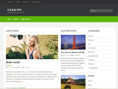 Lexicon - WordPress responsive theme free