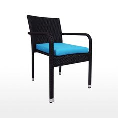 Balcony Bistro Set, Blue Cushions
