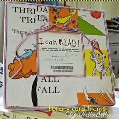 Seussical Library Card Frame | AllFreePaperCrafts.com