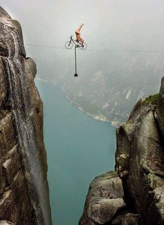 Extreme cycling - I'm going to do it on my bike AND standing on my head! eeek!