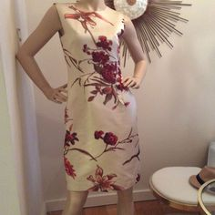 Bill Blass couture silk Dress And Bolero #BillBlass #Sheath #Formal