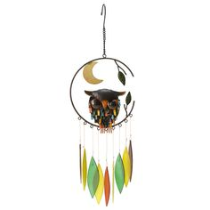 Spiky Owl Chime | wind chime | UncommonGoods