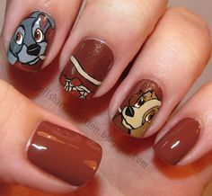 Valentine's Day Lady and the Tramp Nail Art
