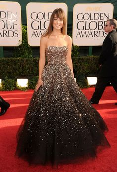 Olivia Wilde in Marchesa at the 2011 Golden Globes