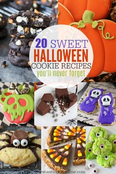 Check out these easy #Halloween #cookie recipes for kids. 20 fun and frightening recipes that kids will love. So creative and tasty too!