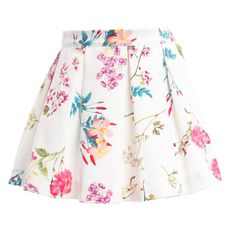 Patachou White Floral Pique Cotton Skirt at Childrensalon.com