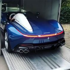 The Ferrari Monza and are limited production sports cars produced by Italian automobile manufacturer Ferrari, introduced in 2018 for the 2019 model year. Exotic Sports Cars, Cool Sports Cars, Super Sport Cars, Exotic Cars, Super Cars, Carros Lamborghini, Ferrari F40, Lamborghini Cars, Maserati