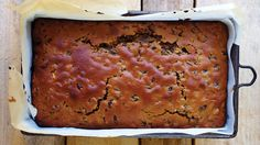 This is not the traditional recipe for bara brith, meaning 'speckled bread' as the original recipe was based on an yeasted bread. However this version which is widely served, makes a beautifully moist cake as the dried fruit are soaked overnig Welsh Recipes, Loaf Recipes, Cake Recipes, Raisin Recipes, British Recipes, Fruit Loaf Recipe, Bara Brith, Croissant Recipe, Moist Cakes