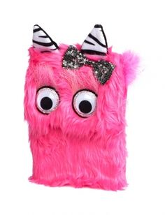 Justice Pink Monster Fur Journal